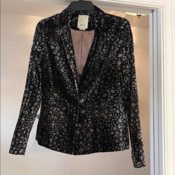 Black & Gray Velvet blazer